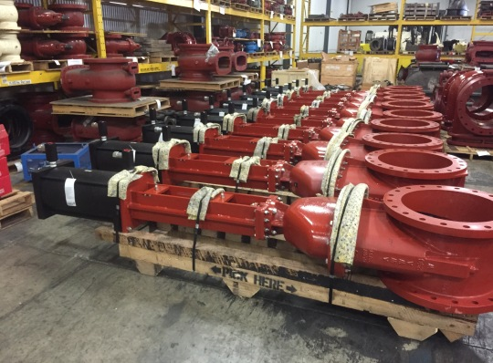Kennedy Valve - 20 Inch Gate Valves with Pneumatic Cylinders - BAE Radford